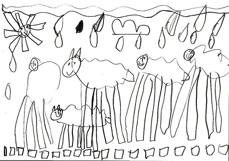 zeichnungen vom bauernhof