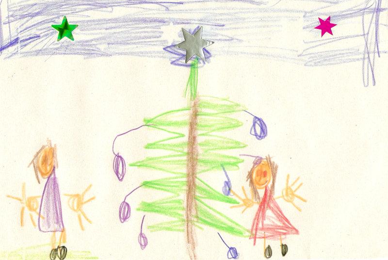 weihnachtszeichnungen von kindern. Black Bedroom Furniture Sets. Home Design Ideas